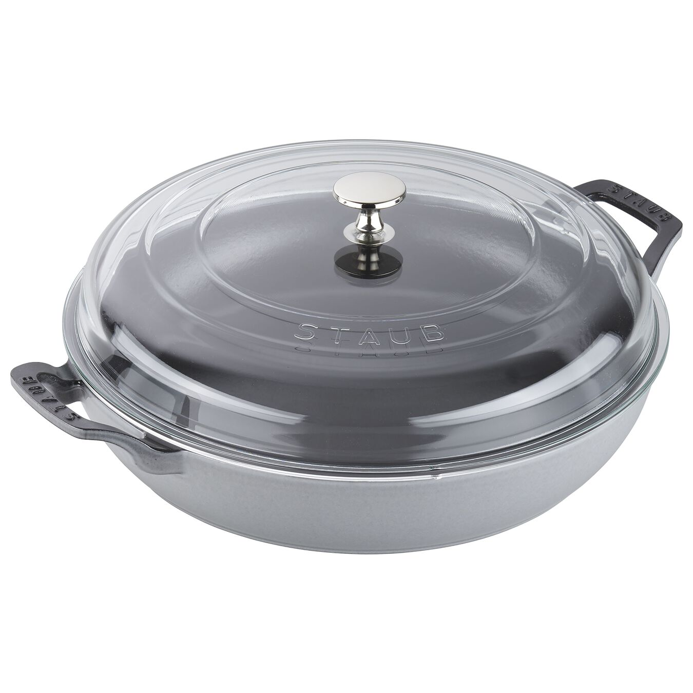 12-inch, Saute pan with glass lid, graphite grey,,large 1