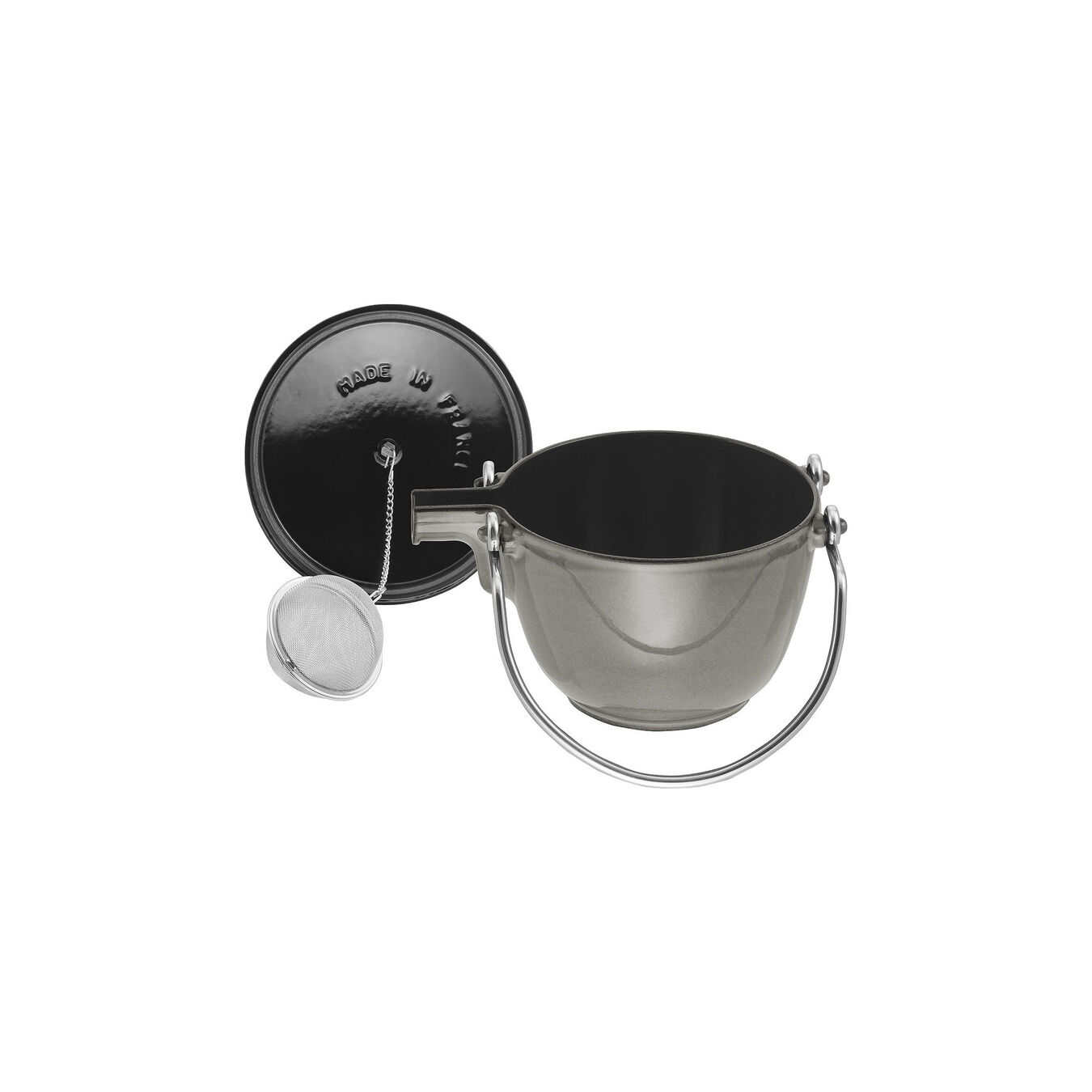 1 qt, round, Tea Kettle, graphite grey,,large 4
