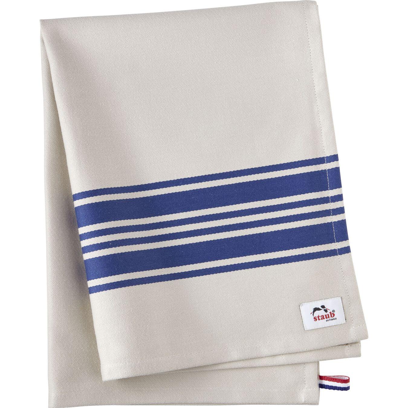 70 cm x 50 cm Cotton Kitchen towel, blue,,large 1