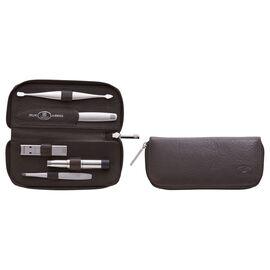 ZWILLING TWINOX, 5-pc Leather Zip fastener case