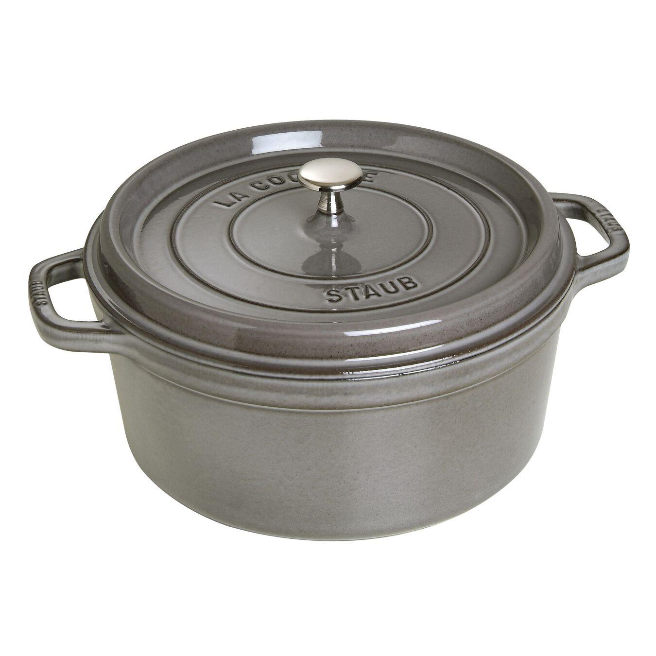 6,75 l Cast iron round Faitout, Graphite-Grey,,large 1