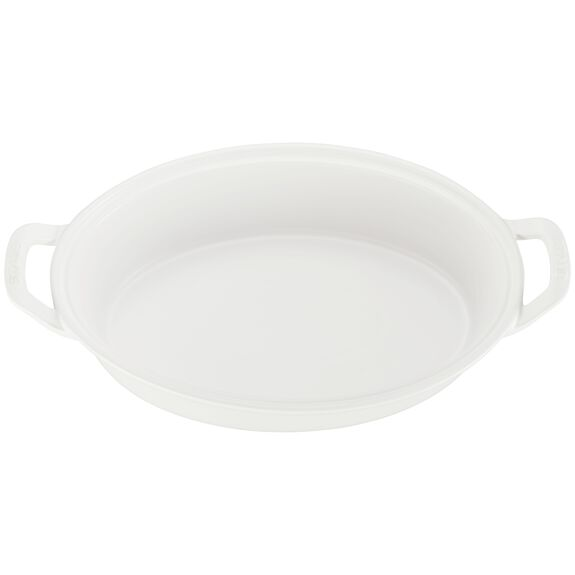 Ceramic Oval Covered Baking Dish, Matte White,,large 3