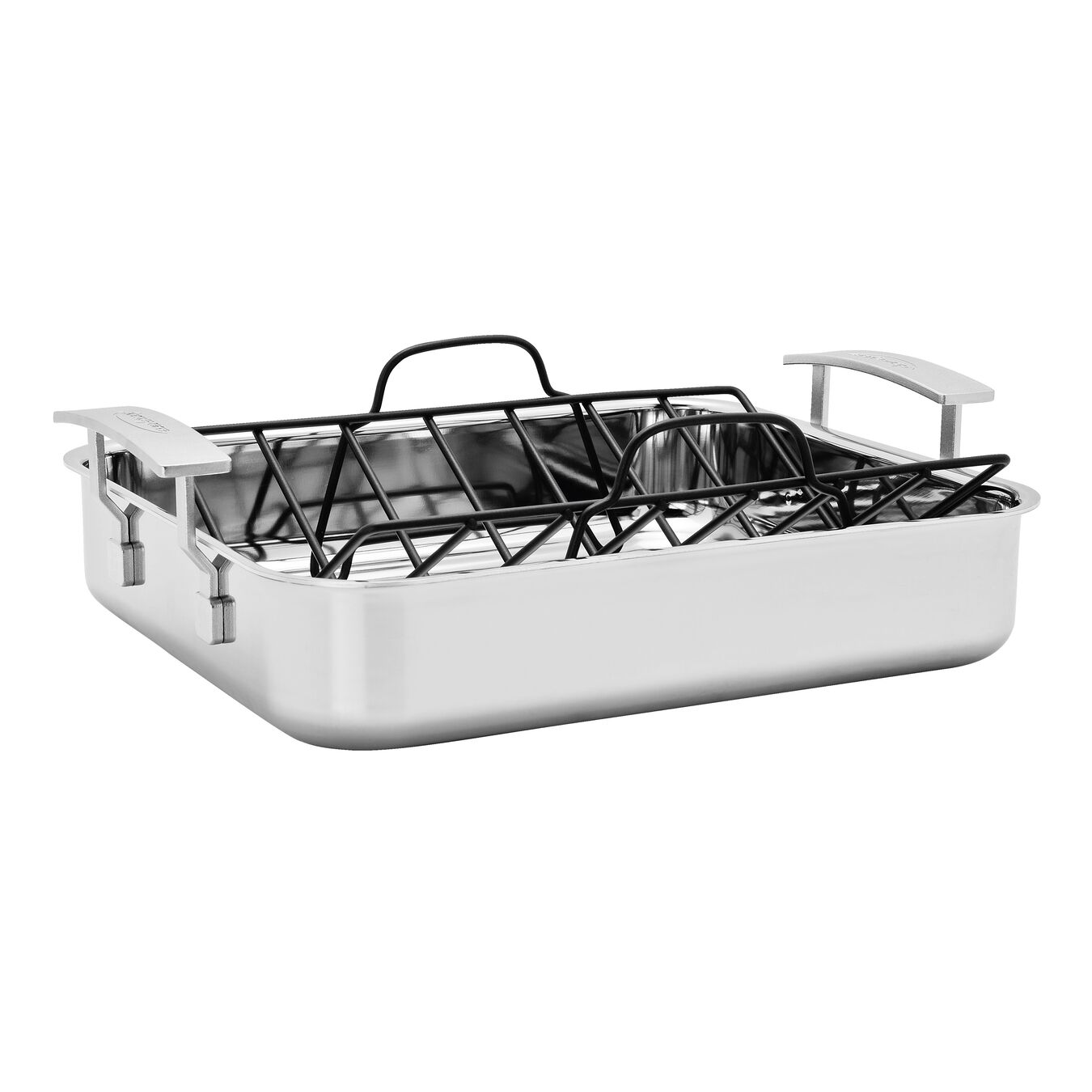 18/10 STAINLESS STEEL ROASTING PAN WITH RACK,,large 1