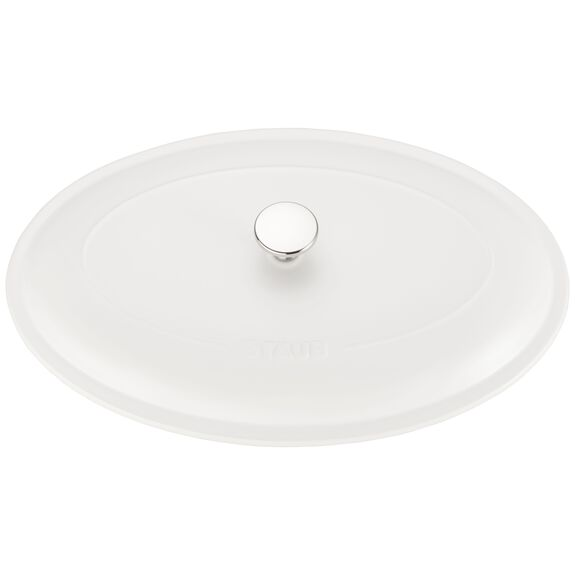 14-inch Oval Covered Baking Dish - Matte White,,large 5