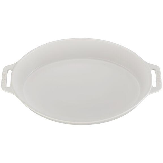 """14.5"""" Oval Baking Dish, Matte White, , large"""