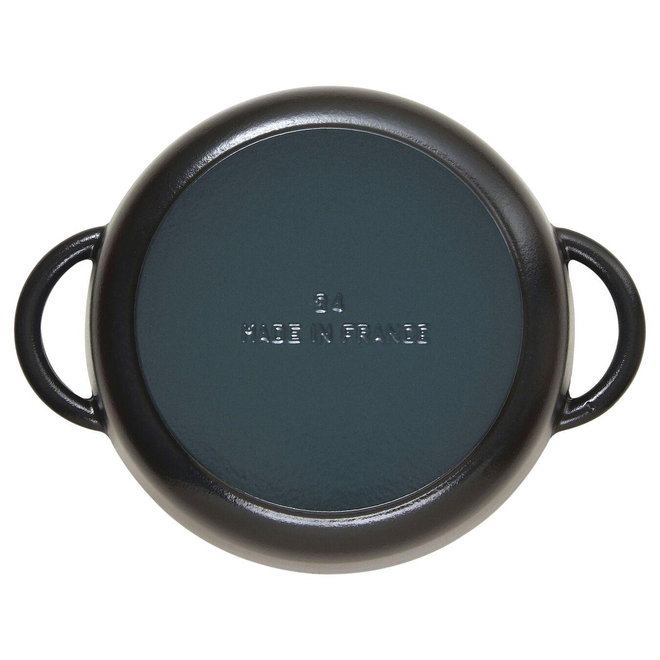 Sauteuse avec couvercle en verre 24 cm,,large 4