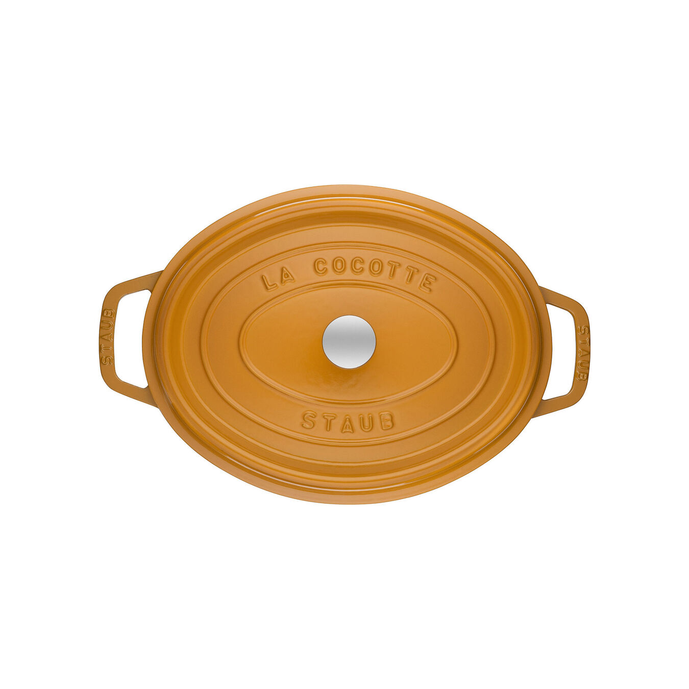 5.5 l Cast iron oval Cocotte, Mustard,,large 2
