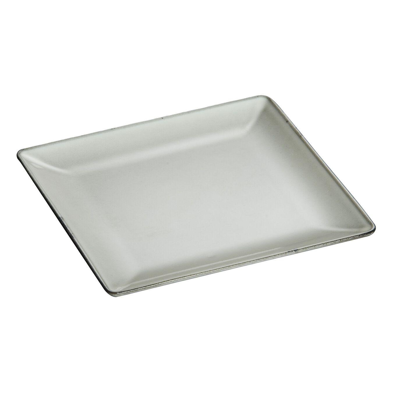 Assiette 24 cm x 24 cm, Gris graphite, Fonte,,large 2