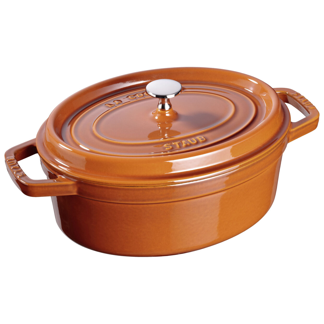 5.5 l Cast iron oval Cocotte, Cinnamon,,large 1