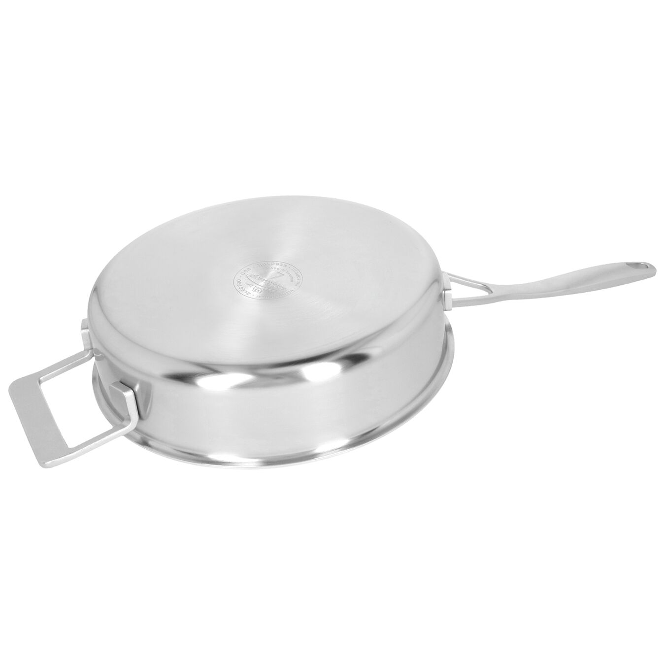 9.5-inch Saute pan with lid, 18/10 Stainless Steel ,,large 4