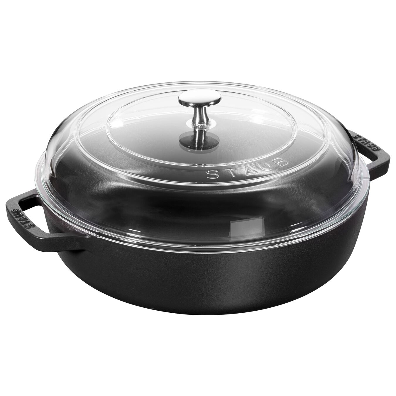 Sauteuse with glass lid 24 cm, Fonte,,large 1