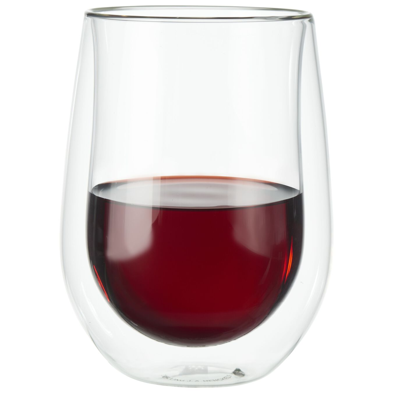 12-oz / 2-pc, Double wall Stemless red wine glass set,,large 1