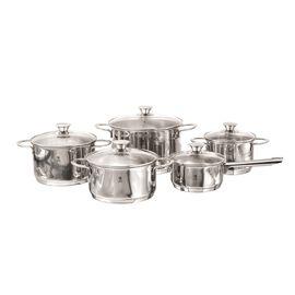 Henckels Biarritz, 10 Piece 18/10 Stainless Steel Cookware set