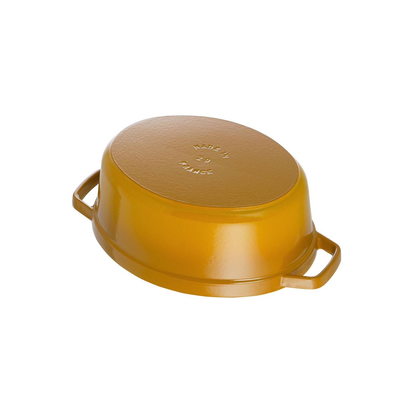 Cocotte 31 cm, Ovale, Moutarde, Fonte,,large 4