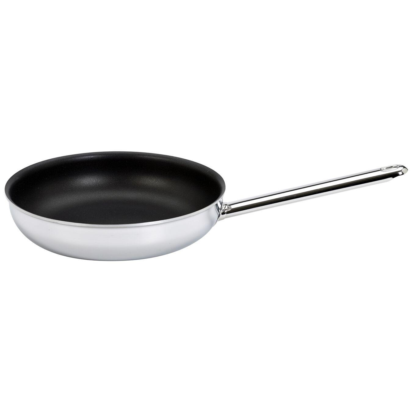 Poêle 24 cm, Inox 18/10, Silver-Black,,large 1