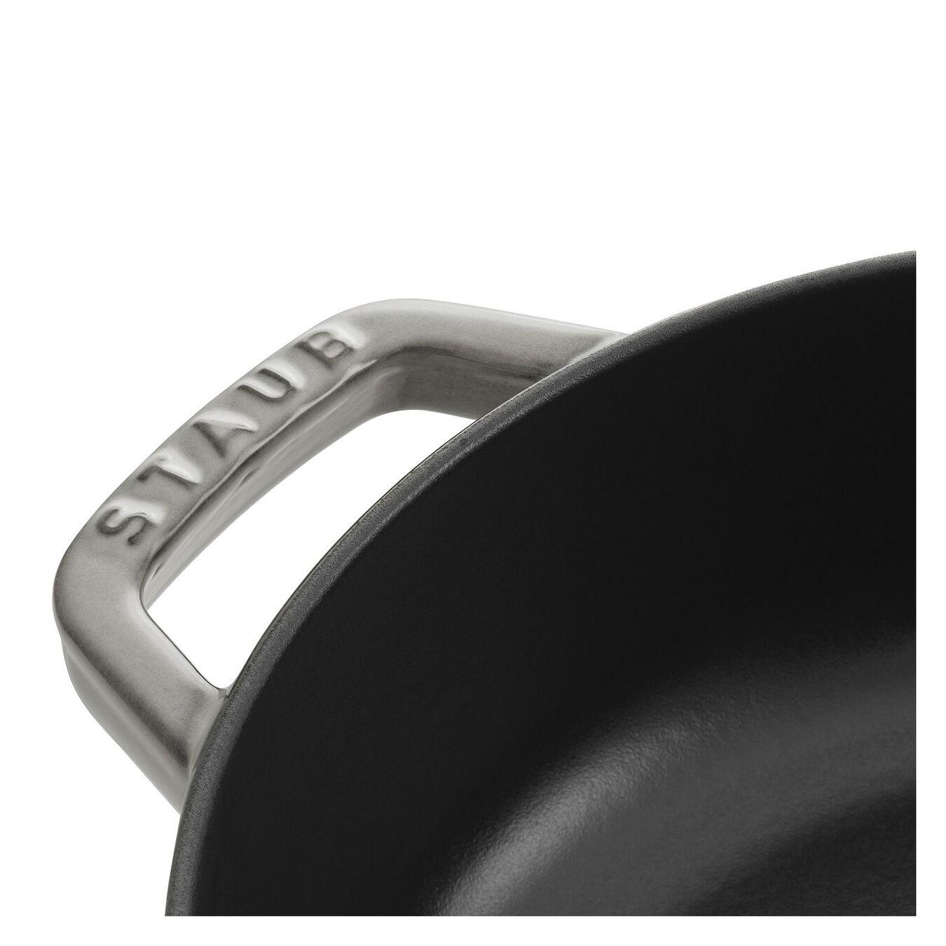 Tegame Chistera rotondo - 24 cm, grigio grafite,,large 8