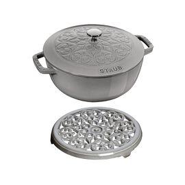 Ensemble de casseroles, 2-pcs   round   Cast iron   Graphite-Grey