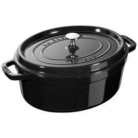 Staub Cast iron, 4.5-qt oval Cocotte, Shiny black - Visual Imperfections
