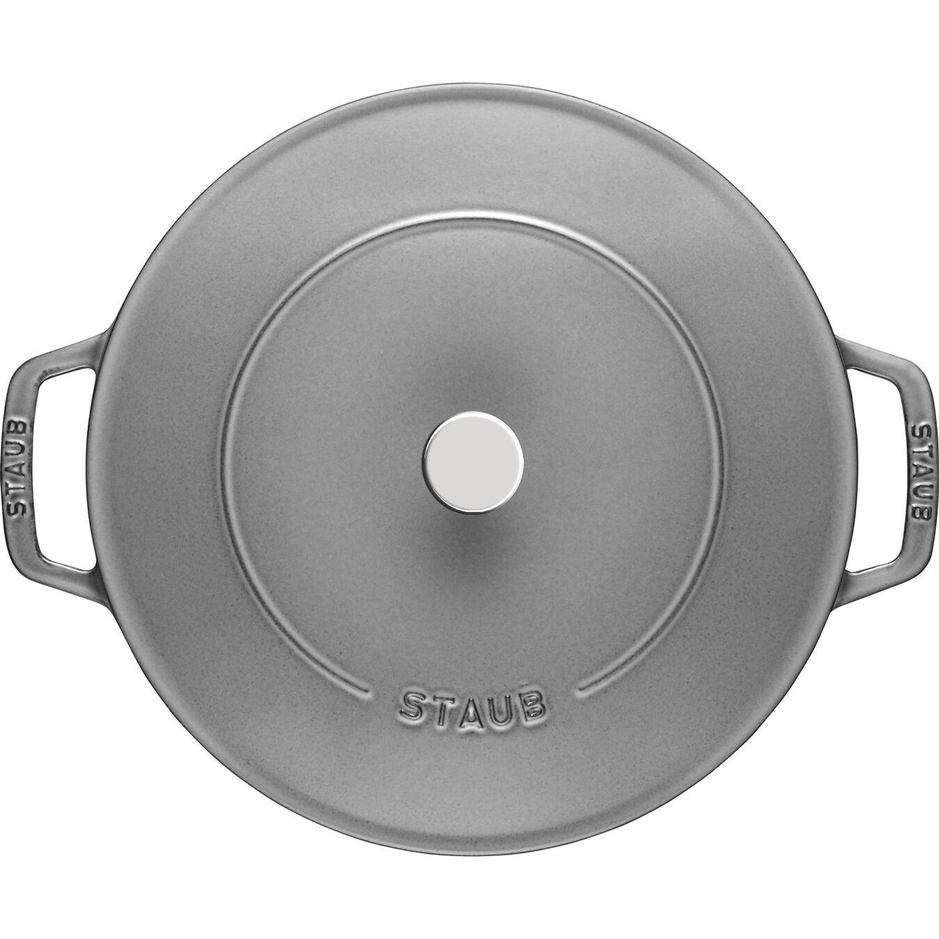 Tegame Chistera rotondo - 24 cm, grigio grafite,,large 6