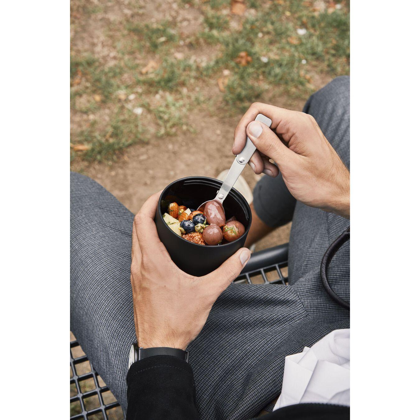Contenant alimentaire isotherme, Noir | Acier inoxydable | 700 ml,,large 11