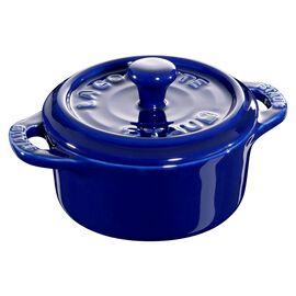 Staub Ceramic - Minis, 3-pc, Mini Round Cocotte Set, dark blue