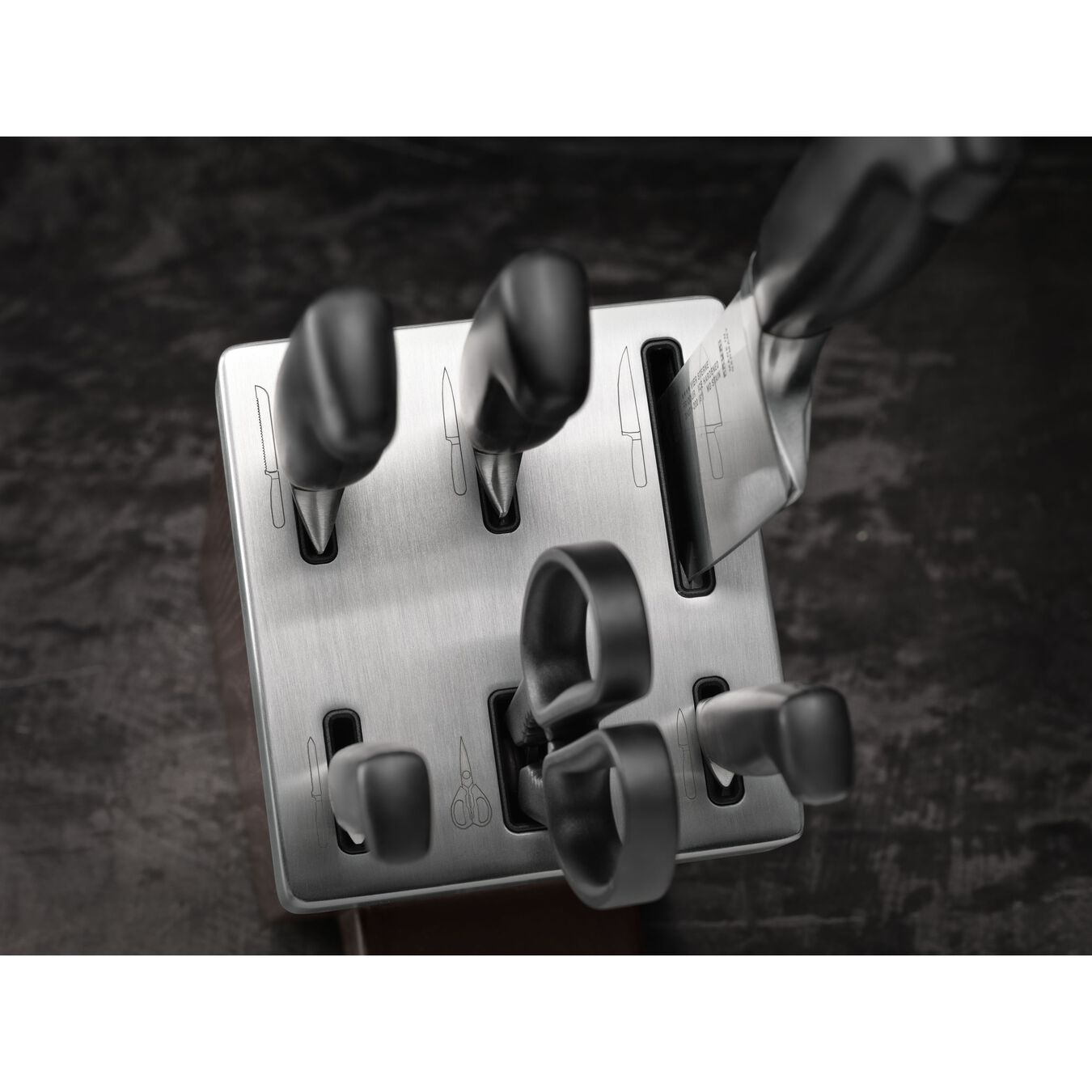 Set di coltelli con ceppo con sistema autoaffilante - 7-pz., grigio,,large 2