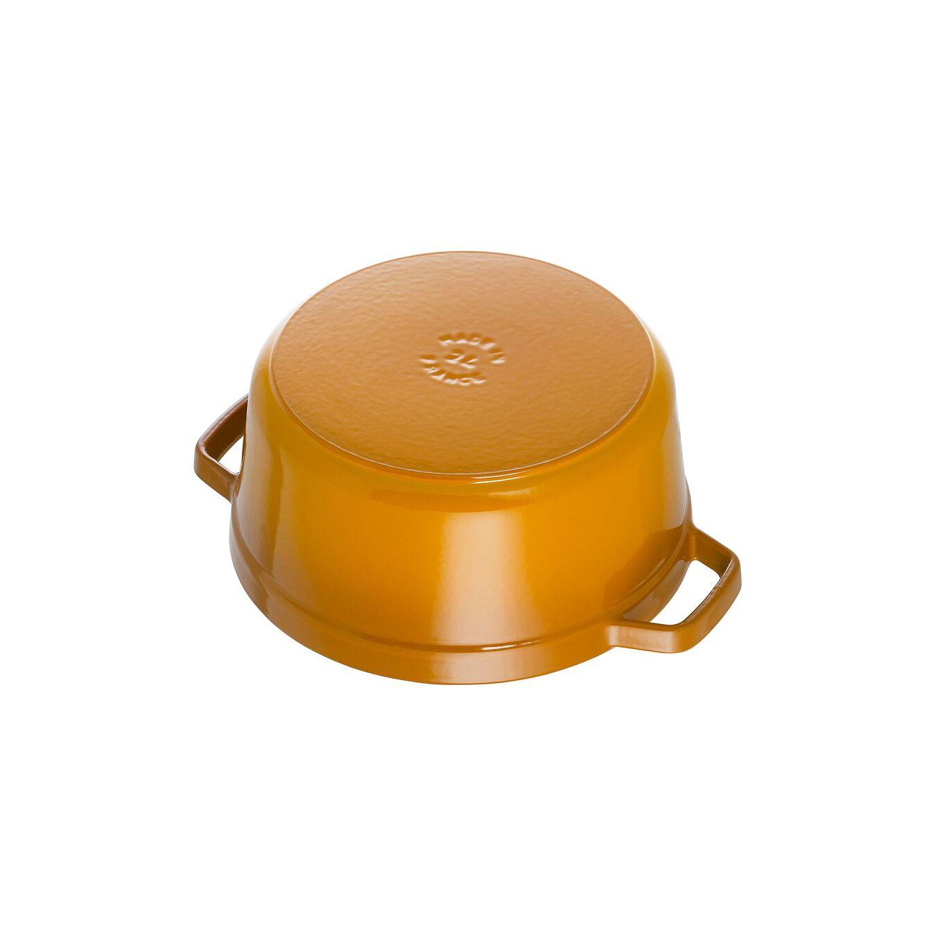 3.75 l Cast iron round Cocotte, Mustard,,large 3