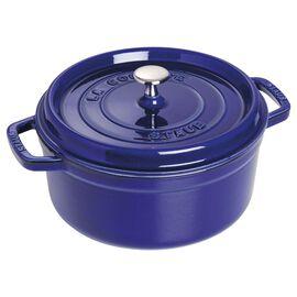 Staub Cast Iron, 4-qt Round Cocotte - Dark Blue