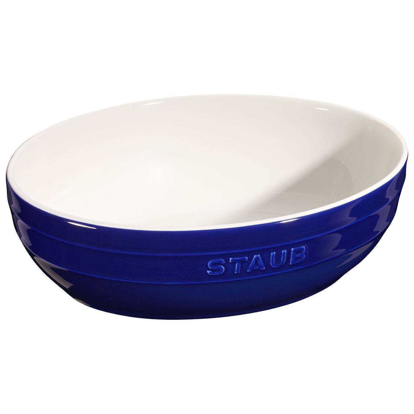 2-pcs Ceramic oval Service de bols, Dark-Blue,,large 3