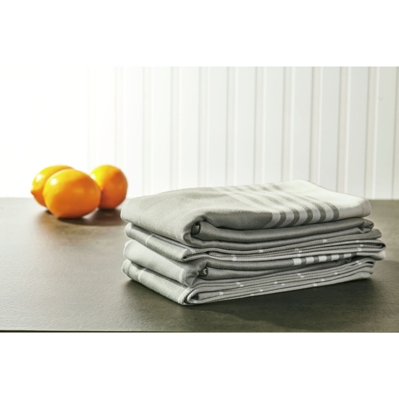 Kitchen towel, grey,,large 4