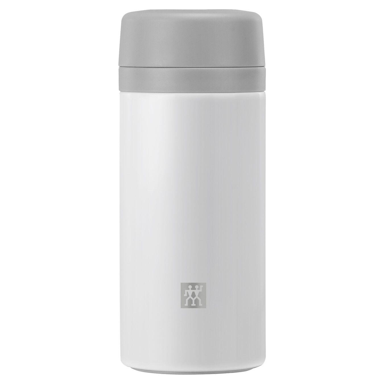 Thermos - 420 ml, acciaio inox, bianco,,large 1