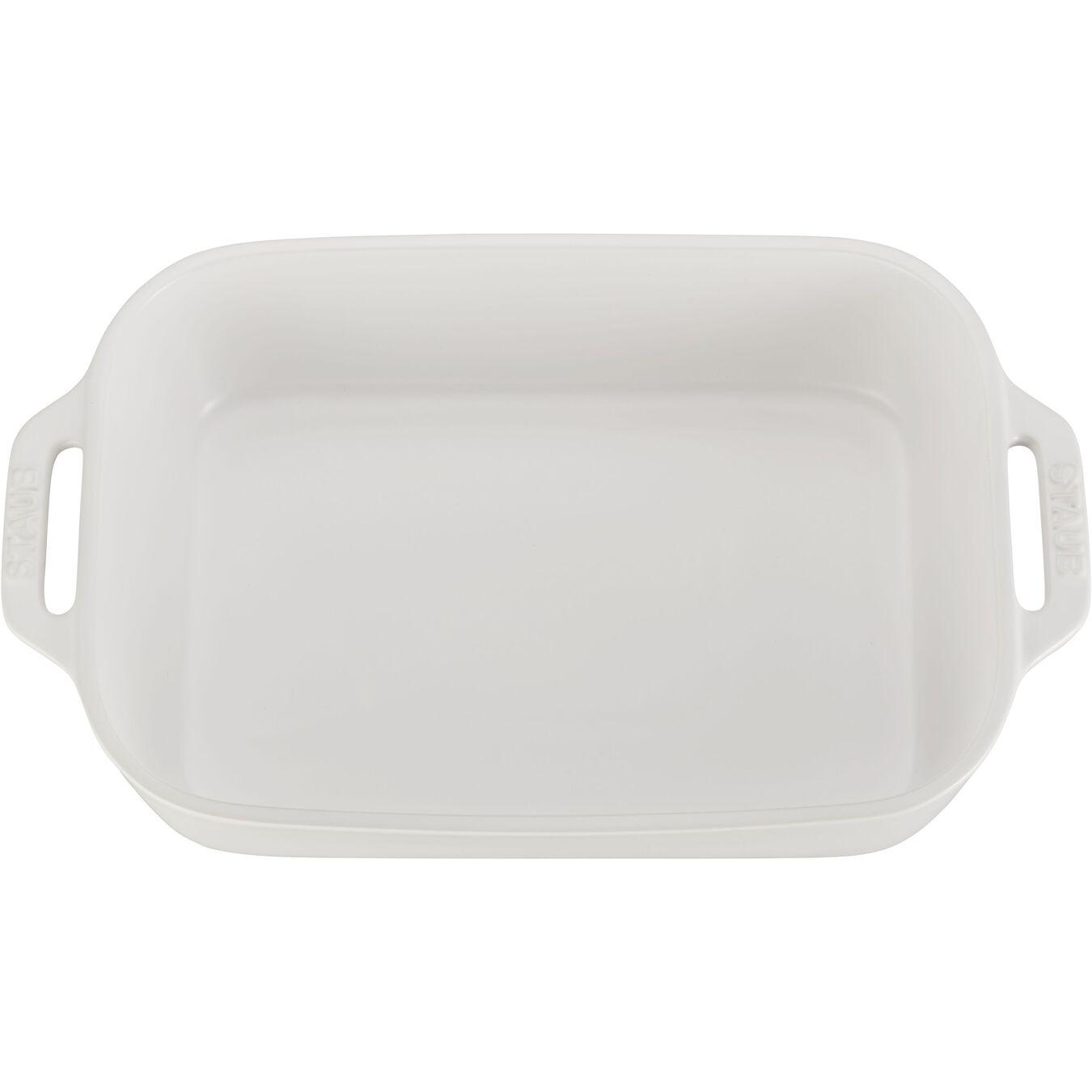 2 Piece rectangular Bakeware set, matte-white,,large 4