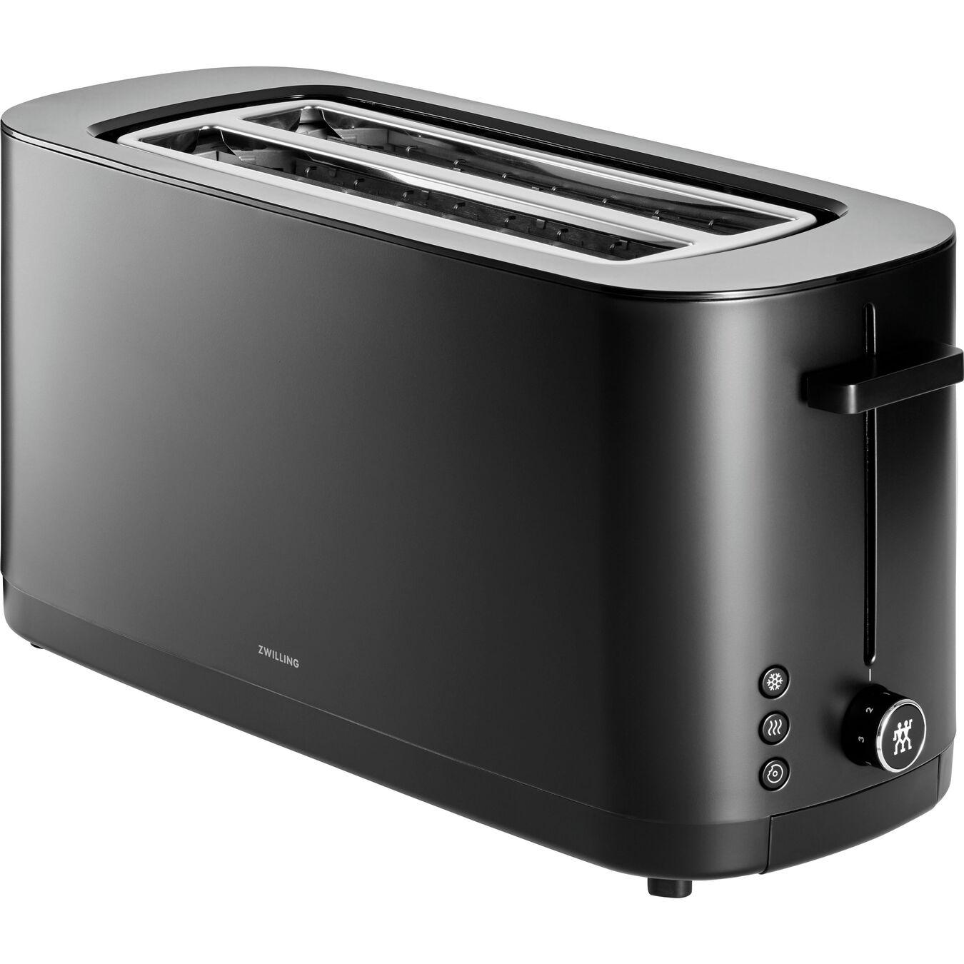 2 Long Slot Toaster - Black,,large 1