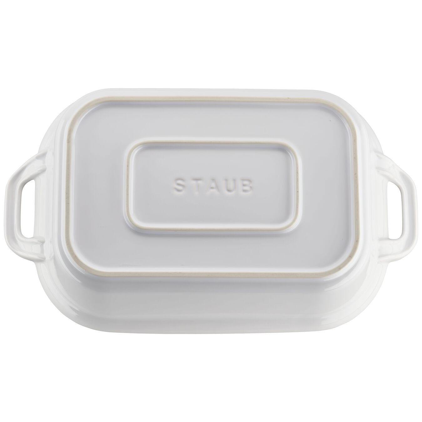 12-inch x 8-inch Rectangular Covered Baking Dish - White,,large 5