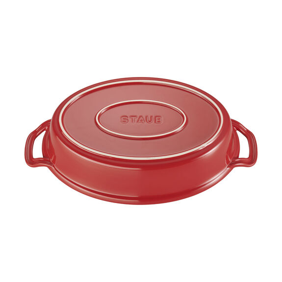 14-inch Oval Covered Baking Dish - Cherry,,large 3