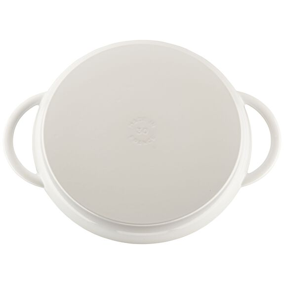 12-inch Round Steam Grill - White,,large 2