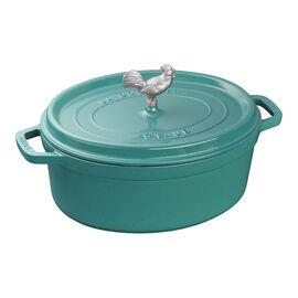 Staub Cast Iron, 5.5 qt, oval, Cocotte, turquoise