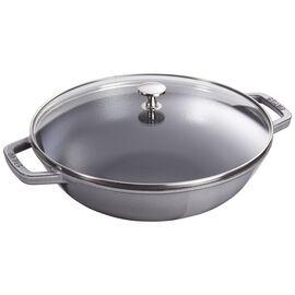 Staub Cast Iron, 4.5-qt Perfect Pan - Graphite Grey