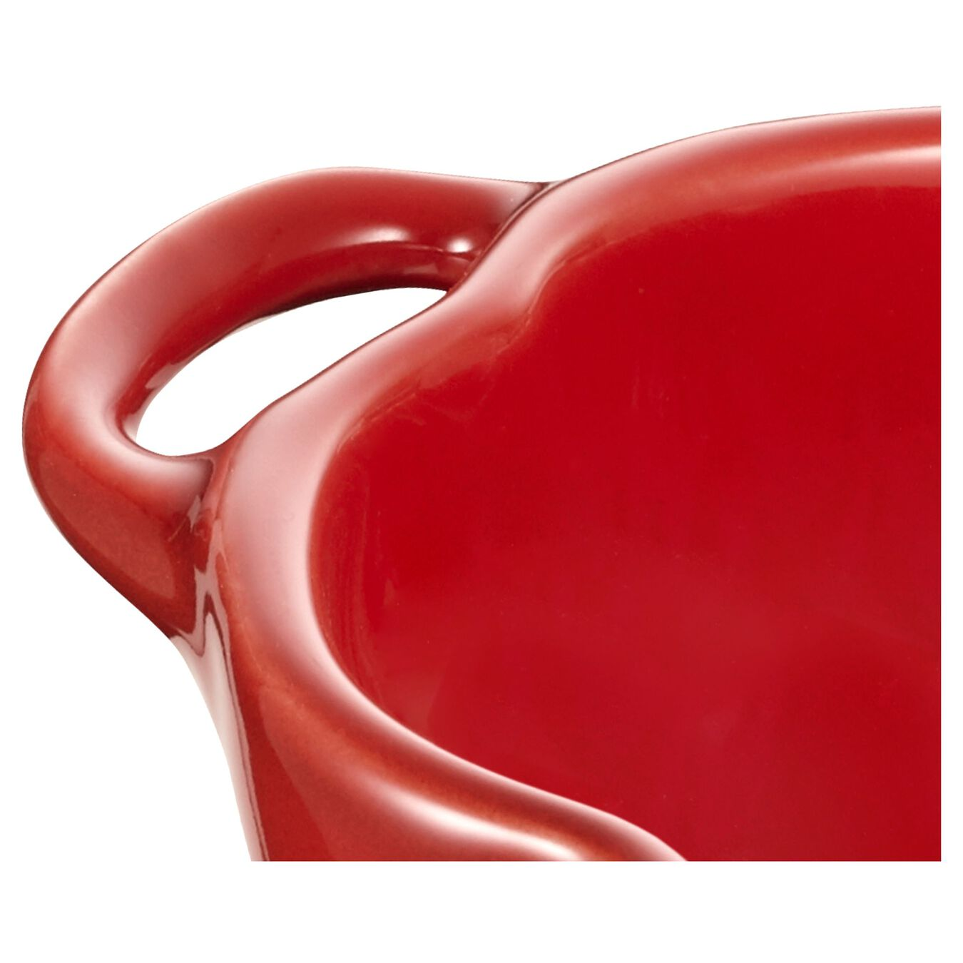 500 ml ceramic tomato Cocotte, cherry,,large 3