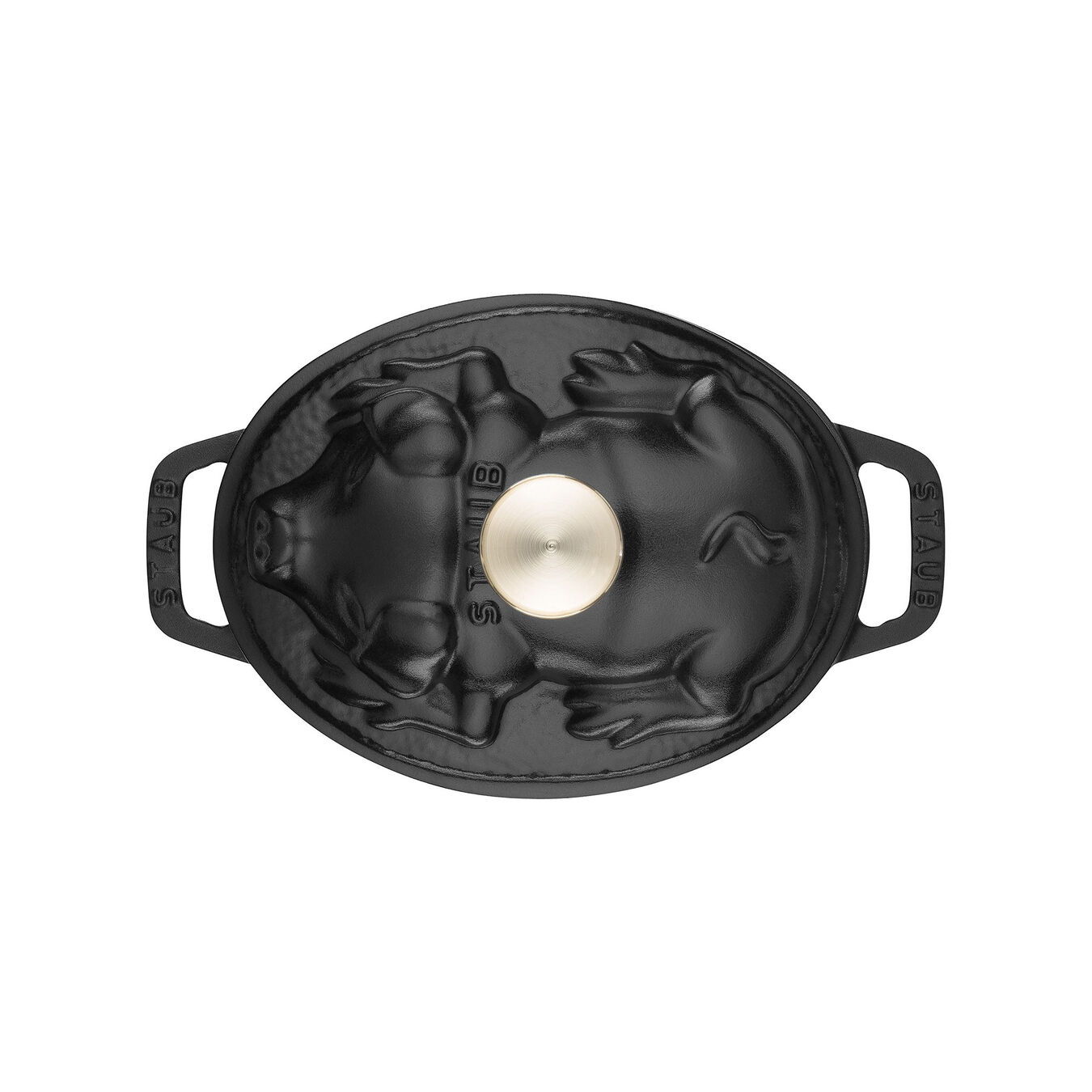 1 l Cast iron oval Faitout, Black,,large 3