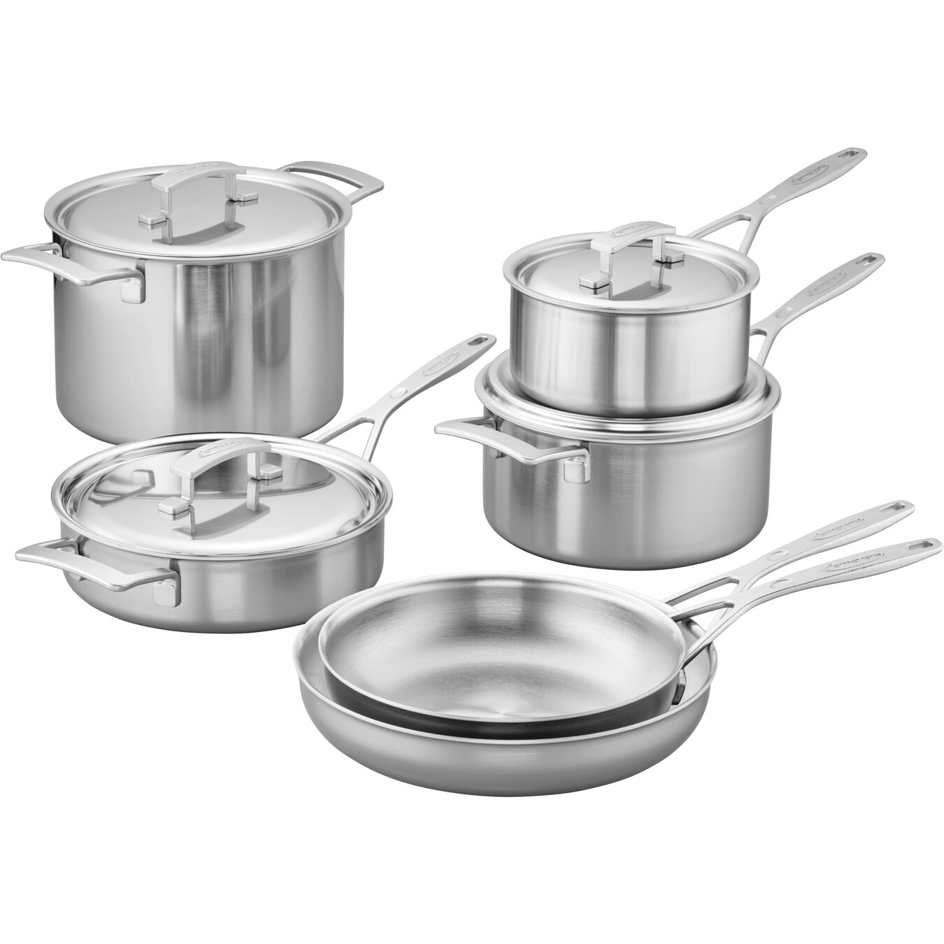 10-pc, Stainless Steel Cookware Set,,large 1
