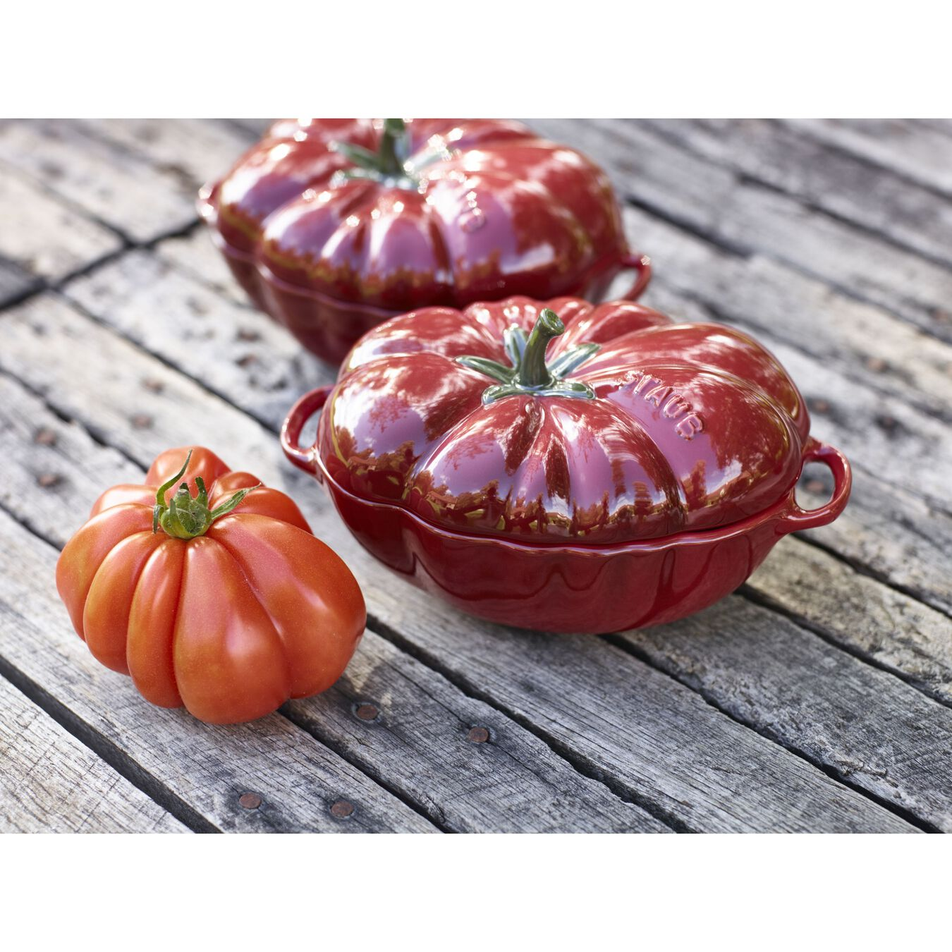 500 ml ceramic tomato Cocotte, cherry,,large 4