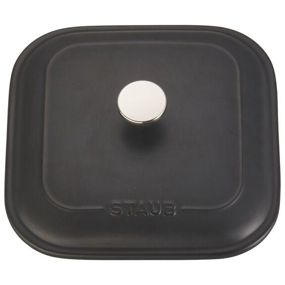 """9"""" x 9"""" Square Covered Baking Dish, Black Matte, , large 3"""