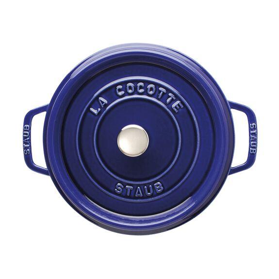 4-qt round Cocotte, Dark Blue,,large 2