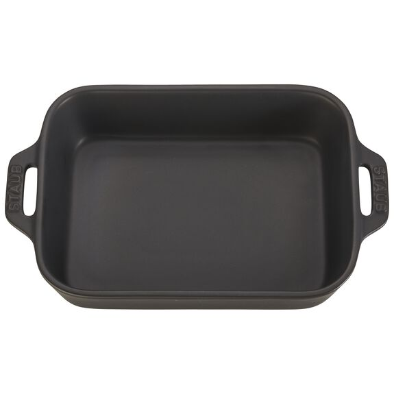 "7.5x6"" Rectangular Baking Dish, Black Matte, , large"