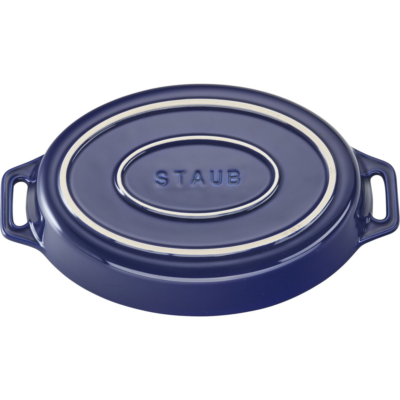 9-inch, oval, Special shape bakeware, dark blue,,large 2