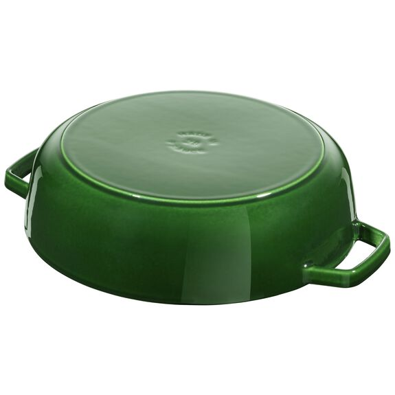 Cat Iron 2.75-qt Chistera Braiser - Visual Imperfections - Basil,,large 2