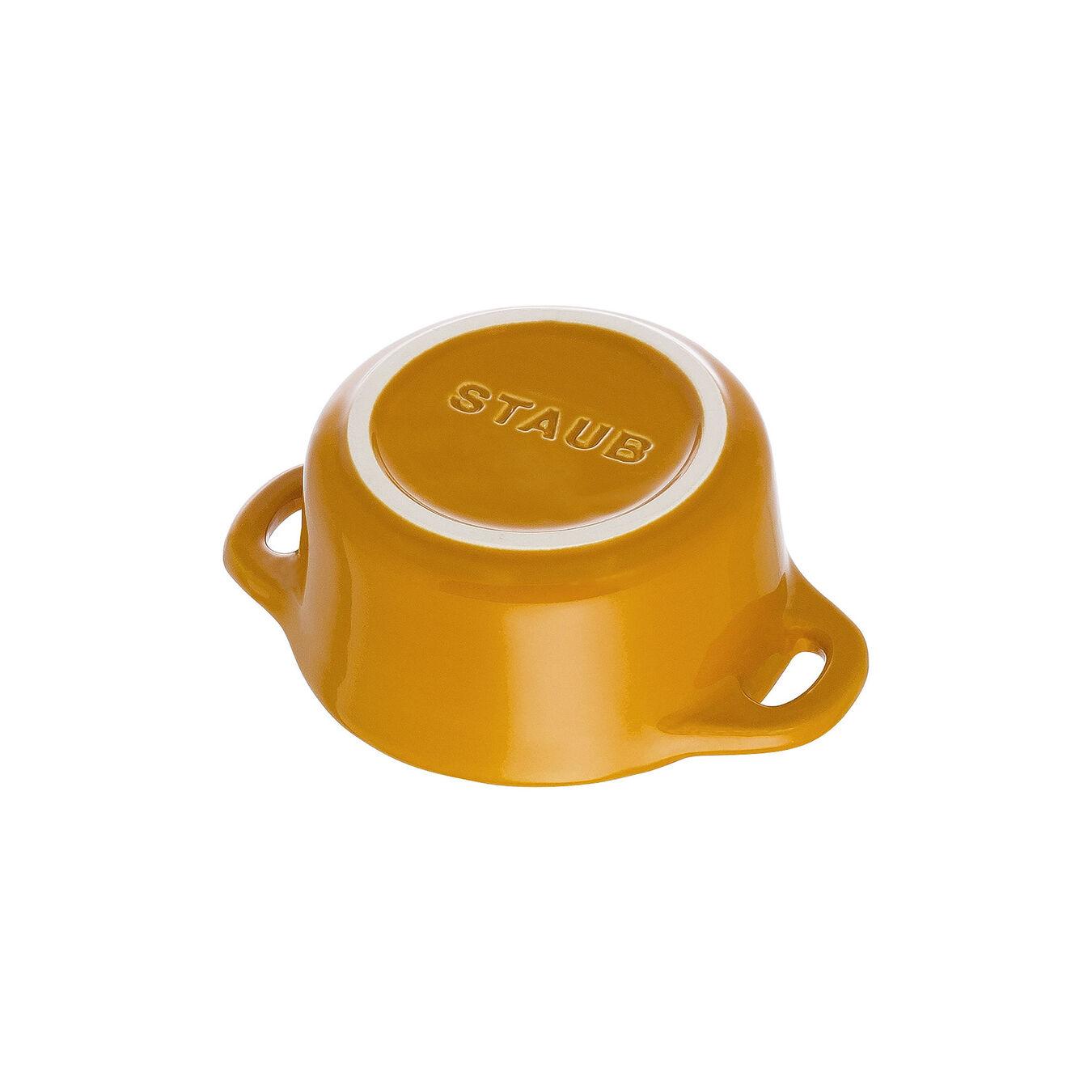 Mini Cocotte 10 cm, Rond(e), Moutarde, Céramique,,large 5