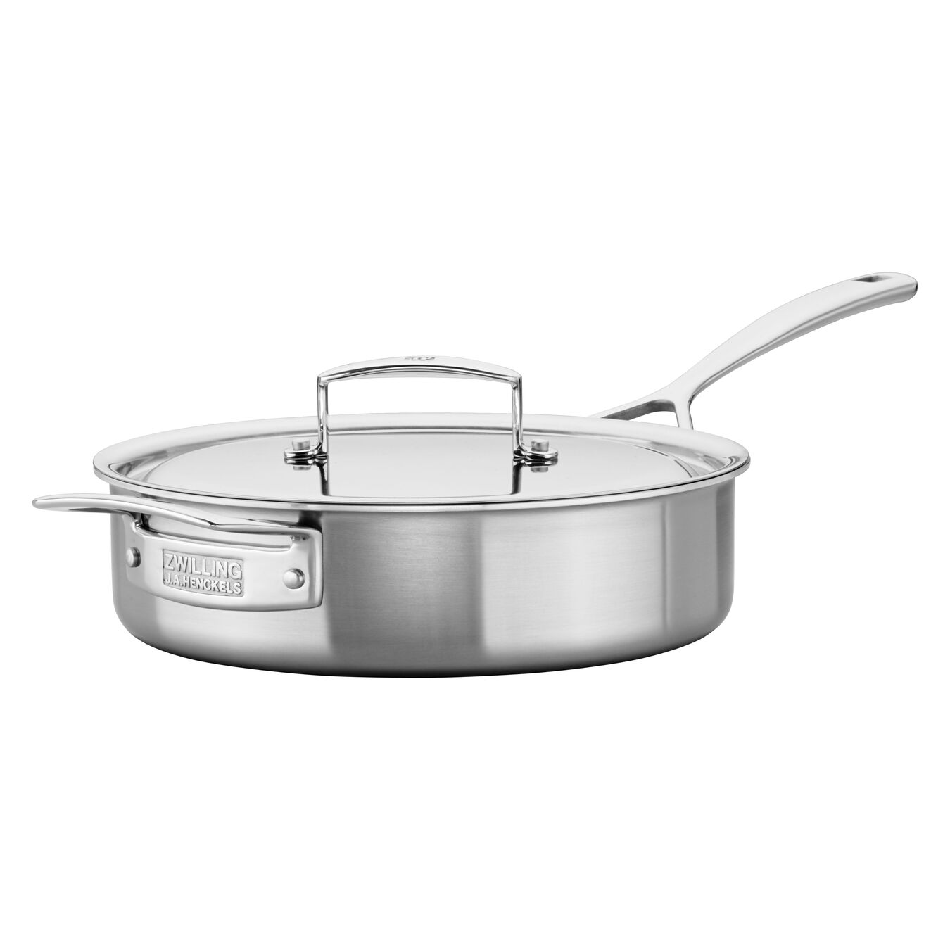 5 Ply, 18/10 Stainless Steel, 9.5-inch, Saute pan with lid,,large 3
