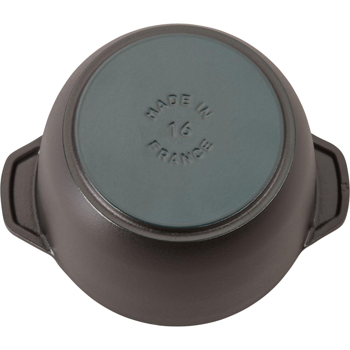 1.5 l Cast iron round Rice Cocotte, Black,,large 9